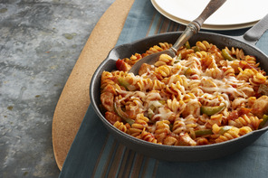 Chicken 'n Peppers Pasta Skillet for Two