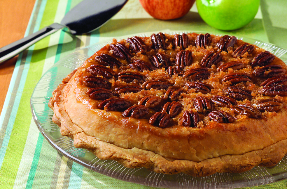 Tipsy Apple Pecan Pie