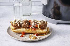 Slow-Cooker BBQ Meatball Sandwiches