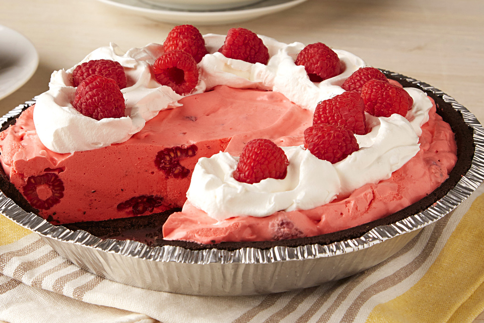 Raspberry-Ice Cream Pie