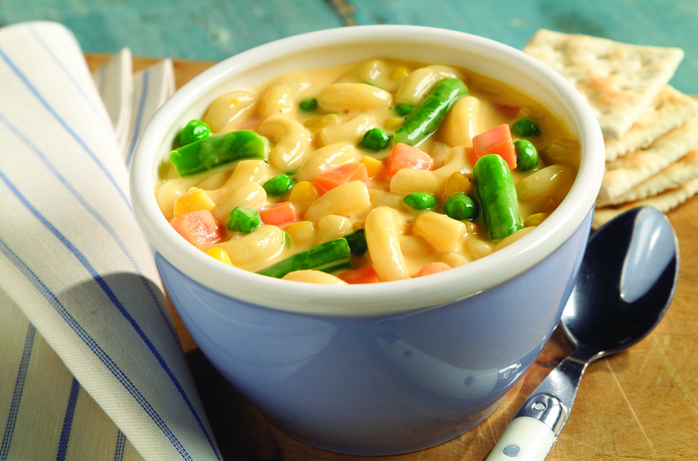 Mac 'N Double Cheese Soup