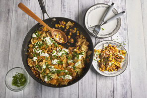 Crunchy Tortilla and Beef Skillet