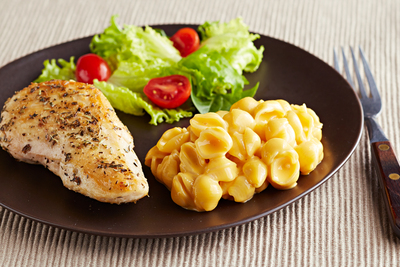 Herb-Crusted Chicken and VELVEETA Shells & Cheese