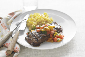 Grilled Skirt Steak with Fruit Salsa