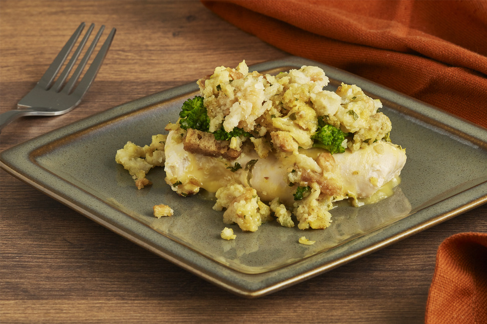 Slow-Cooked Chicken 'N Broccoli with Stuffing