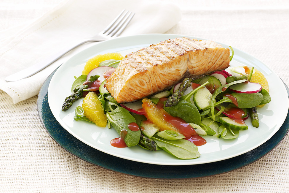 Catalina Grilled Salmon Salad Recipe My Food And Family