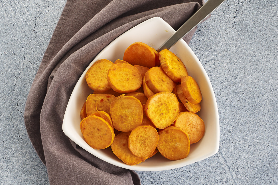 Easy Baked Sweet Potato Slices My Food And Family