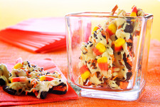 Howling Candy Corn Cookie Bark