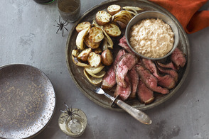 Spiced Steak with Roasted Potatoes & Onions