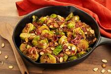 Skillet-Glazed Brussels Sprouts with Bacon