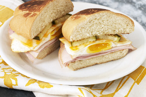 Layered Egg Sandwich