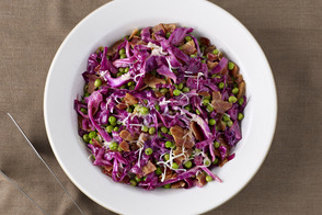 Warm Red Cabbage & Peas Salad