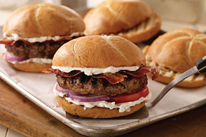 Bacon Blue Cheese Burgers