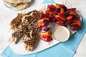 Veggie & Chicken Kebab Recipe