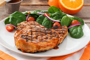 Citrus Barbecued Pork Chops