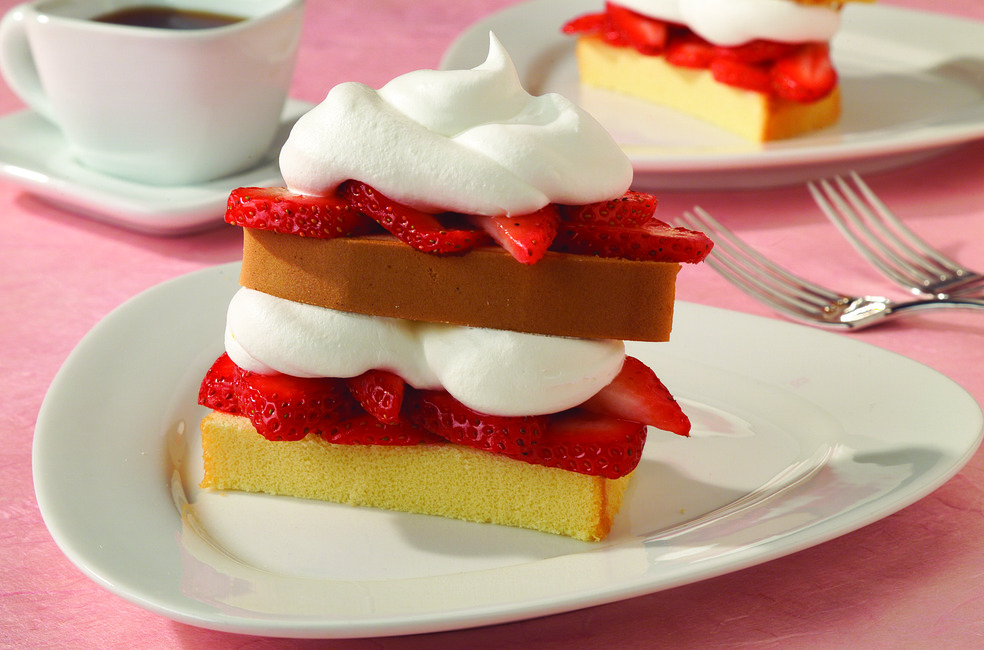 Low-Fat Strawberry Shortcut