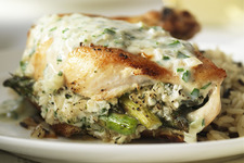 Chicken Stuffed with Asparagus & Feta