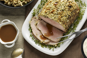 Herb-Roasted Pork Loin with Gravy