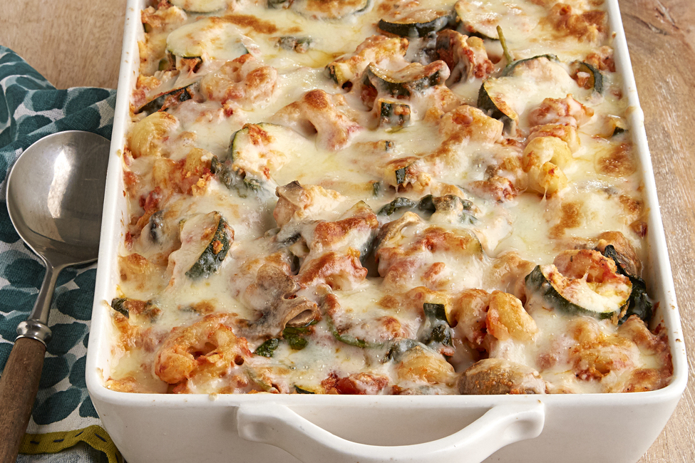 Creamy Zucchini and Spinach Pasta Bake