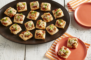 Hawaiian BBQ Chicken Pizza Bites