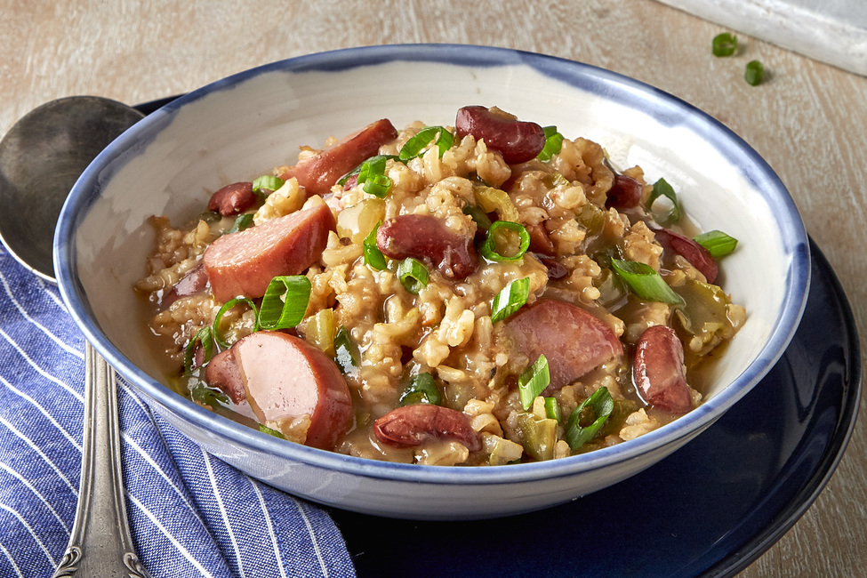 Pressure-Cooked Red Beans and Rice