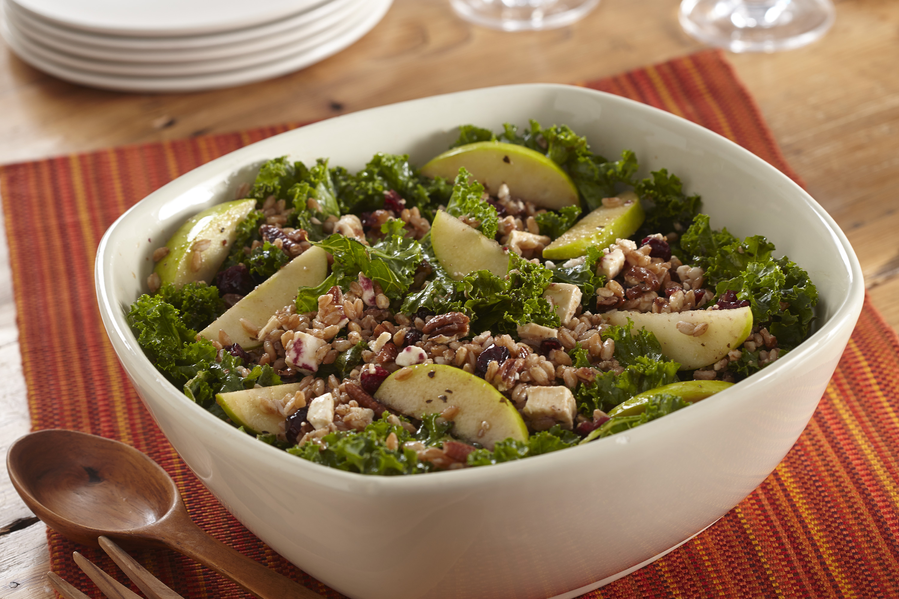 Apple, Kale and Farro Harvest Salad