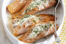 Roasted Salmon with Herbed Cream Cheese
