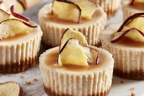 Mini Spiced Apple Cider Cheesecakes