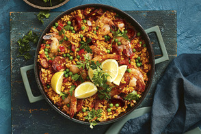Electric Pressure Cooker Paella with Chorizo and Shrimp