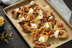 Loaded Potato Pierogi Nachos