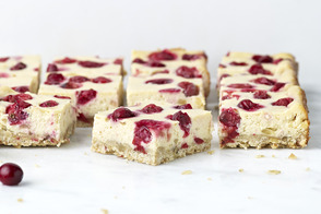 Cranberry-Ginger Cheesecake Bars