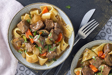 Pressure-Cooker Mushroom and Beef Stew