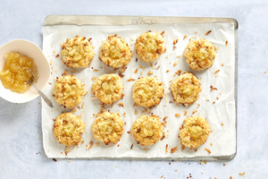 Pineapple-Coconut Thumbprint Cookies
