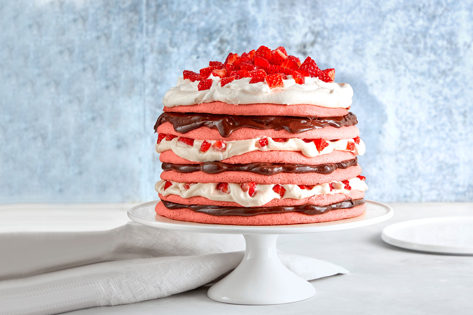 Chocolate-Strawberry Layer Cake