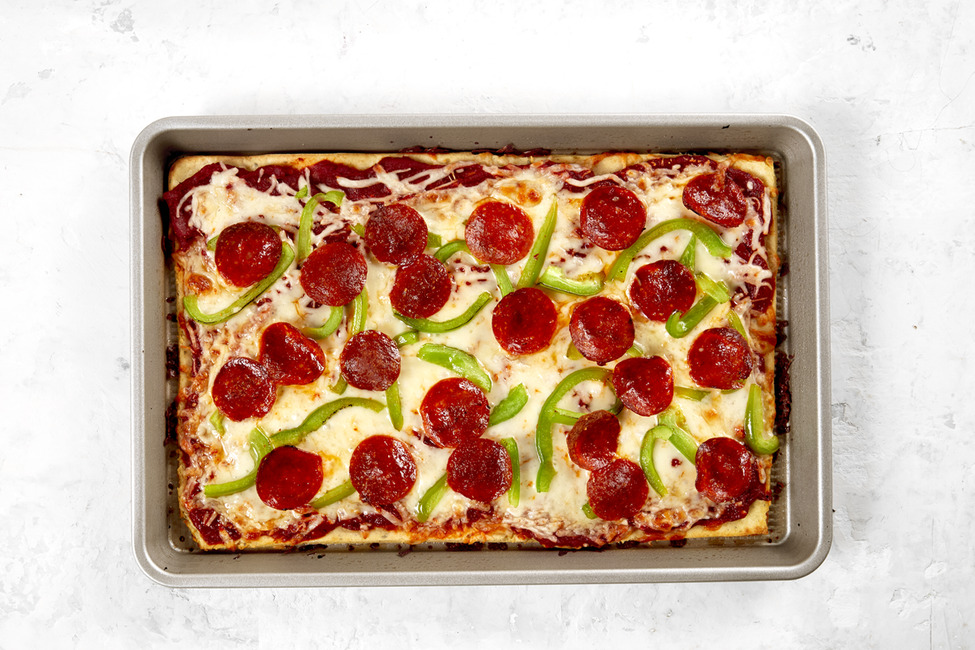 Sheet-Pan Pizza with Magic Crust