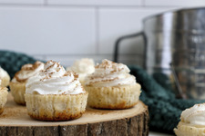 3-Step Mini Eggnog Cheesecakes