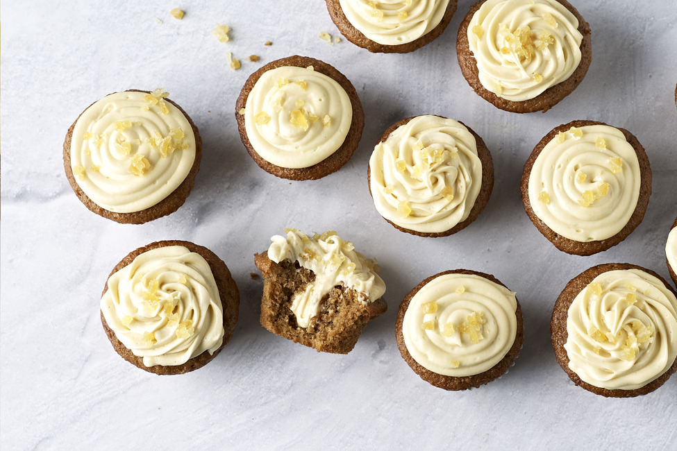 Candied Ginger-Gingerbread Cupcakes