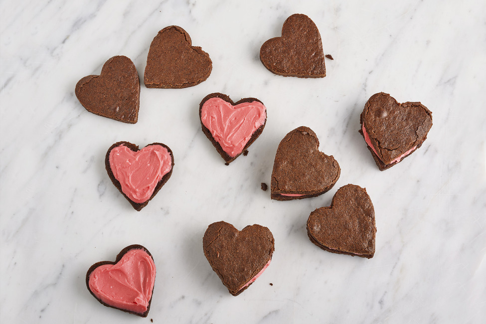 Heart-Shaped Valentine Brownies