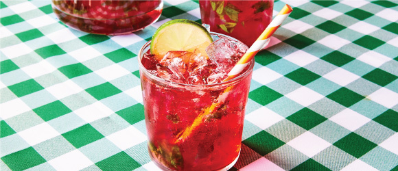 Black Cherry-Basil Punch