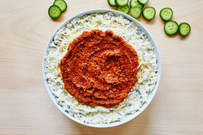 Tomato Pesto-Mozzarella Cheese Dip