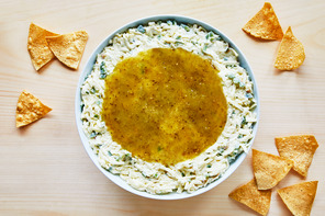 Monterey Jack Cheese Dip with Verde Salsa