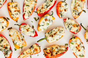 Cottage Cheese-Stuffed Mini Peppers