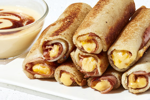 Grilled Ham-and-Cheese Roll-Ups