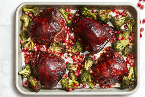 Sheet-Pan BBQ Chicken with Pomegranate