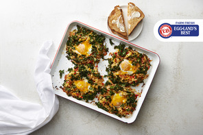 Sheet Pan Hash Browns & Eggs
