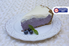 Wild Blueberry White Chocolate Mousse Pie