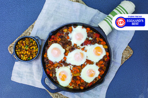 Egg & Steak Hash with Chipotle Street Corn Relish