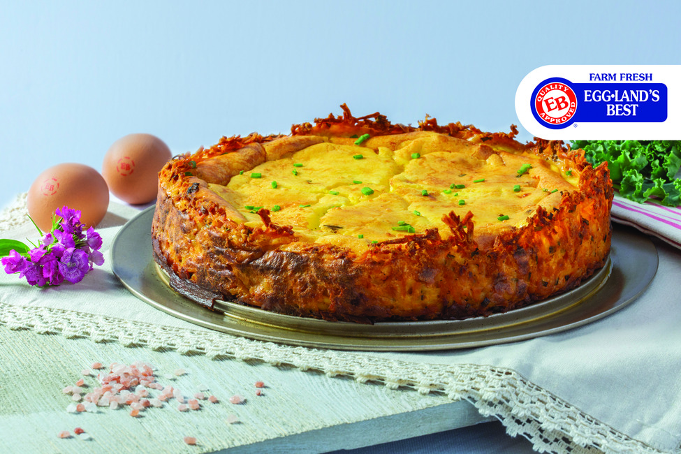Hash Brown & Chive Goat Cheese Quiche