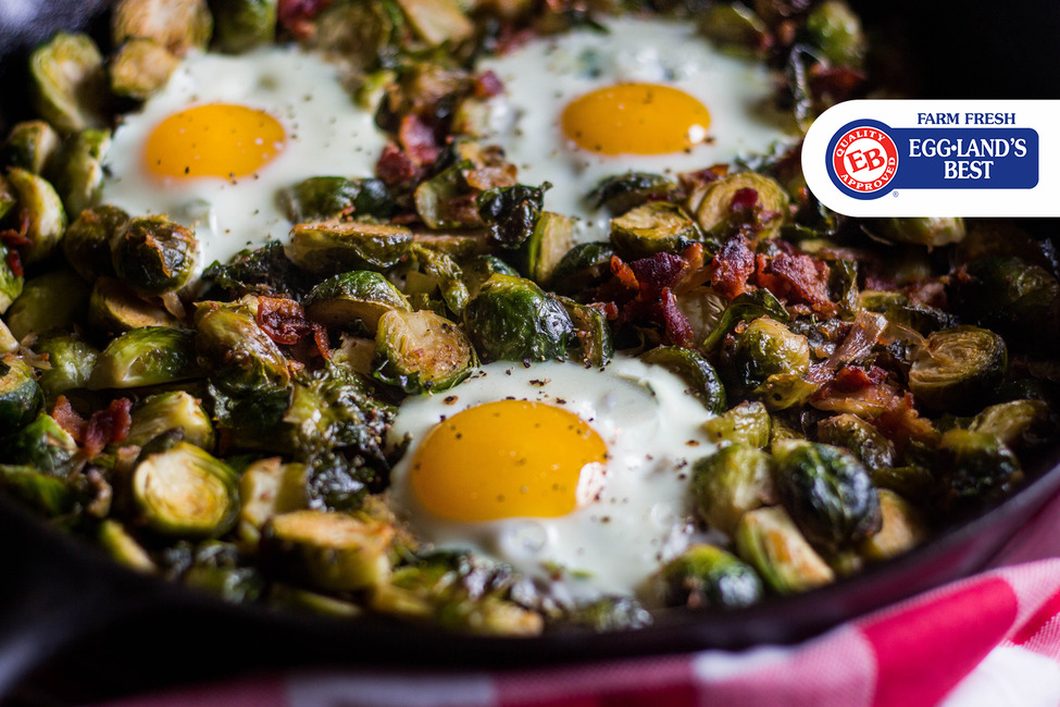 Bacon Egg & Shallot Brussels Sprouts