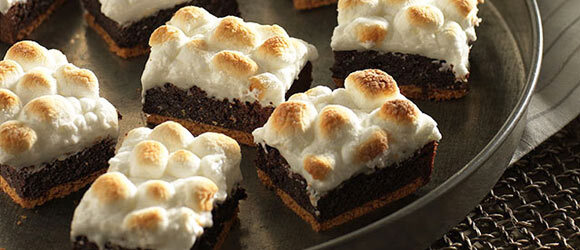 Double Chocolate S'mores Brownies
